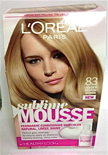Lorealhair197196 Jpg L Oreal Sublime Mousse Golden Med Blonde 83